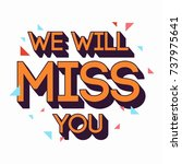 farewell card. all the best... | Shutterstock .eps vector #737975641