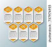 vector abstract 3d paper... | Shutterstock .eps vector #737976955