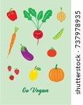 go vegan vector | Shutterstock .eps vector #737978935