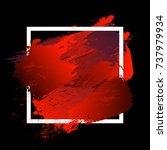 gradient vibrant red strokes...   Shutterstock .eps vector #737979934