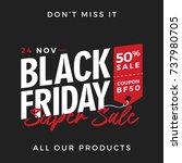 50  off black friday super sale ... | Shutterstock .eps vector #737980705