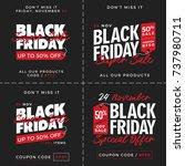 50  off black friday super sale ... | Shutterstock .eps vector #737980711