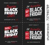 50  off black friday super sale ... | Shutterstock .eps vector #737980789