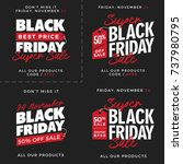 50  off black friday super sale ... | Shutterstock .eps vector #737980795