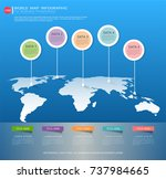 world map infographic template  ... | Shutterstock .eps vector #737984665