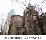 Small photo of Beautiful classic and old architecture church buildings across the country