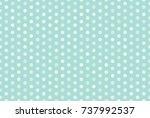 white dot pattern on blue... | Shutterstock .eps vector #737992537