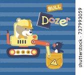 cute animals on heavy toll ... | Shutterstock .eps vector #737993059