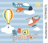 air transportation  vector... | Shutterstock .eps vector #737993071