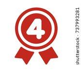 ranking medal icon illustration....   Shutterstock .eps vector #737993281