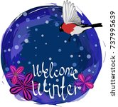 welcome to winter. frame | Shutterstock .eps vector #737995639