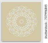 mandala decoration  geometric... | Shutterstock .eps vector #737996845