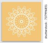 mandala decoration  geometric... | Shutterstock .eps vector #737996851