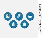 set of 5 cleaning icons set... | Shutterstock .eps vector #737998291