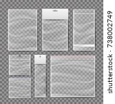 transparent plastic pocket bags ... | Shutterstock . vector #738002749