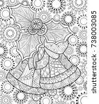 adult coloring page book... | Shutterstock .eps vector #738003085