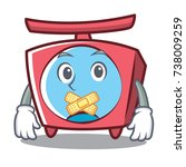 silent scale character cartoon... | Shutterstock .eps vector #738009259