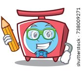 student scale character cartoon ... | Shutterstock .eps vector #738009271