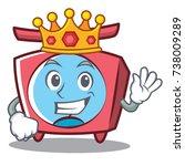 king scale character cartoon... | Shutterstock .eps vector #738009289