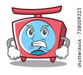 angry scale character cartoon... | Shutterstock .eps vector #738009325