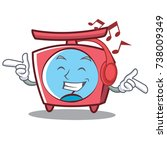 listening music scale character ... | Shutterstock .eps vector #738009349