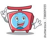 finger scale character cartoon... | Shutterstock .eps vector #738009355