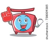 foam finger scale character... | Shutterstock .eps vector #738009385