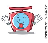 tongue out scale character... | Shutterstock .eps vector #738009559
