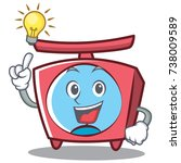 have an idea scale character... | Shutterstock .eps vector #738009589