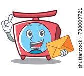 with envelope scale character... | Shutterstock .eps vector #738009721