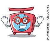 super hero scale character... | Shutterstock .eps vector #738009751