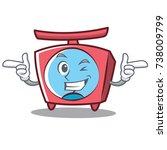 wink scale character cartoon... | Shutterstock .eps vector #738009799