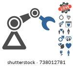 manipulator equipment...   Shutterstock .eps vector #738012781