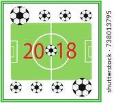 football championship. vector... | Shutterstock .eps vector #738013795