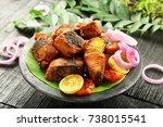 healthy diet  roasted seer fish