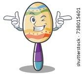 wink maracas character cartoon... | Shutterstock .eps vector #738015601