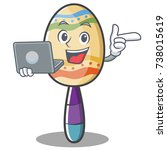 with laptop maracas character... | Shutterstock .eps vector #738015619