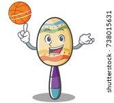 with basketball maracas... | Shutterstock .eps vector #738015631