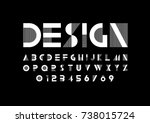 vector of modern abstract font... | Shutterstock .eps vector #738015724