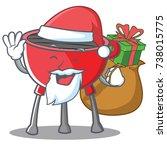 santa barbecue grill cartoon... | Shutterstock .eps vector #738015775