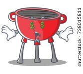 money eye barbecue grill... | Shutterstock .eps vector #738015811
