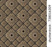 islamic vector design. seamless ... | Shutterstock .eps vector #738016309