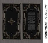 vector card. art deco style.... | Shutterstock .eps vector #738018799