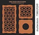 diy laser cutting vector scheme ... | Shutterstock .eps vector #738019249