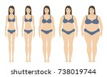 body mass index vector... | Shutterstock .eps vector #738019744