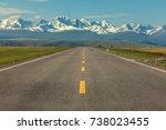 asphalt road | Shutterstock . vector #738023455
