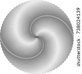 lines in circle form . spiral... | Shutterstock .eps vector #738024139