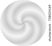 lines in circle form . spiral... | Shutterstock .eps vector #738024169