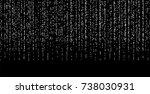 silvery small confetti on a... | Shutterstock .eps vector #738030931