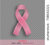 breast cancer awareness month   ... | Shutterstock .eps vector #738032221